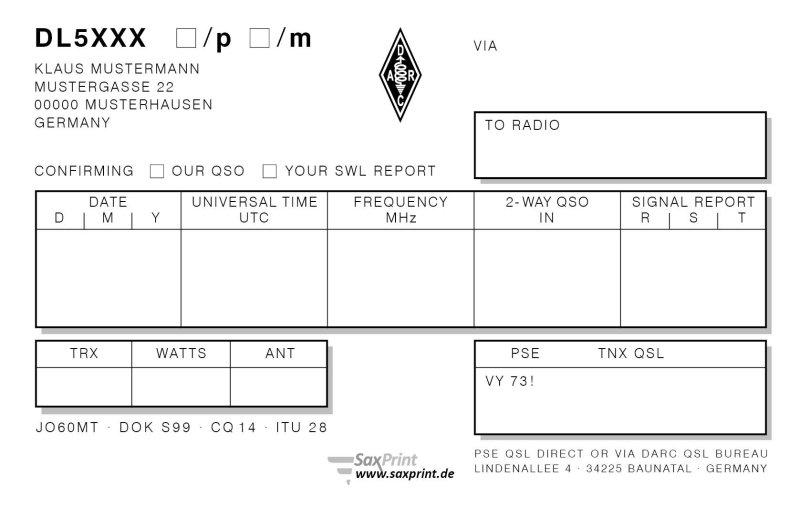 Qsl Karten 9x14cm Premium 4 1 Farbig Mit Eigenem Motiv 49 90